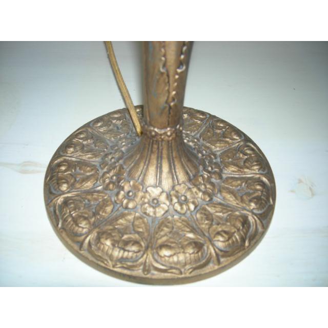 Art Nouveau Art Nouveau EM&Co. Lamp With Slag Glass Shade For Sale - Image 3 of 6