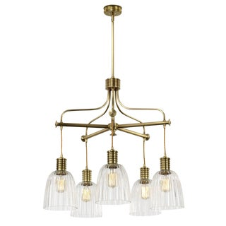 Douille Chandelier With Glass For Sale
