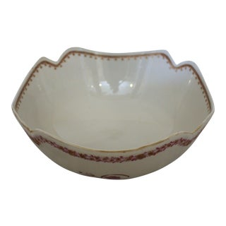 Republic Period Chinese Export Salad Bowl For Sale