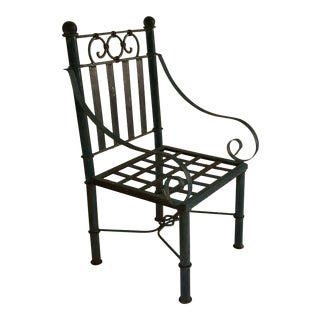19th Century Victorian Metal Garden Chair