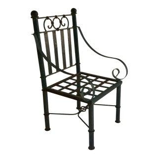 19th Century Victorian Metal Garden Chair For Sale