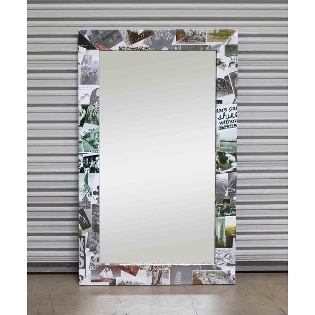 Sleek design that introduces Contemporary meets Vintage! This mirror features vintage photos of yesteryear that are...