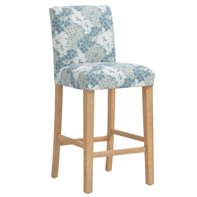 Blue Bar stool in Loiret Blue For Sale - Image 8 of 8