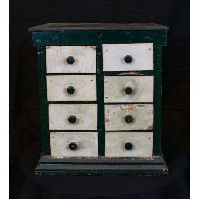 Paint Miniature Green Organizer With Dog Liners For Sale - Image 7 of 7