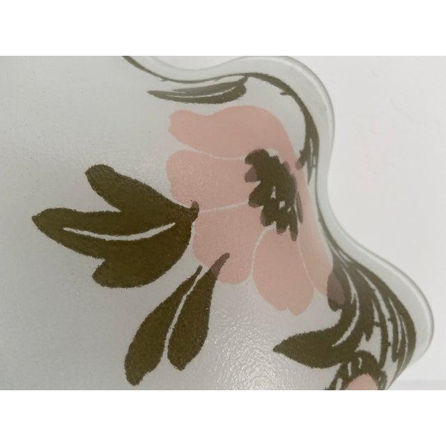 Ruffled Floral Flush Light For Sale - Image 4 of 7