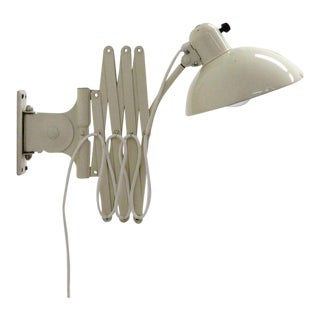 1930s Mid-Century Modern Christian Dell White Enamel Wall Lamps - a Pair