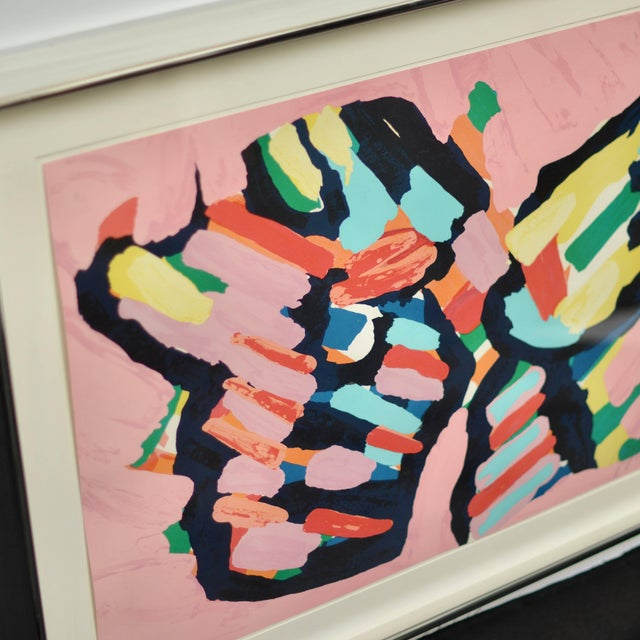 "Karel Appel ""Lying in Color 'Pink Cat'"" 1979, Signed, Framed in Chrome For Sale In Los Angeles - Image 6 of 8"