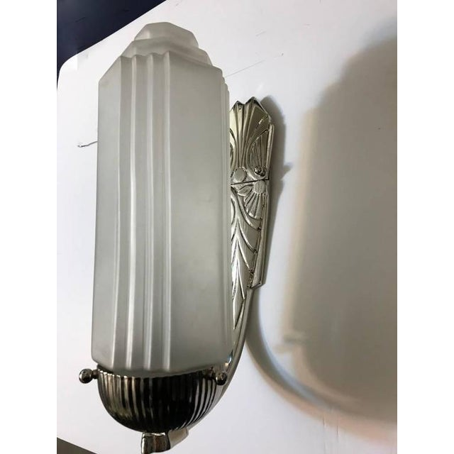 French Art Deco Sconces with Skyscraper Motif - A Pair - Image 2 of 10