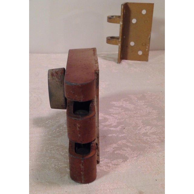 Mid-Century Modern Thumb Latch Lock Deadbolt For Sale - Image 4 of 9
