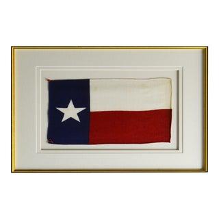 Vintage Framed Texas State Flag For Sale