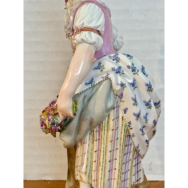 Fine Late 19th Century Meissen Figurine of a Lady Gardener For Sale - Image 9 of 13