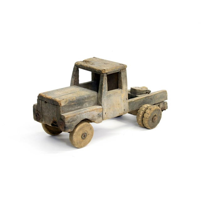 Vintage Handmade Wood Truck Folk Toy - Image 2 of 5