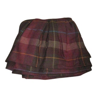 Ralph Lauren Plaid Wool King Bed Skirt For Sale