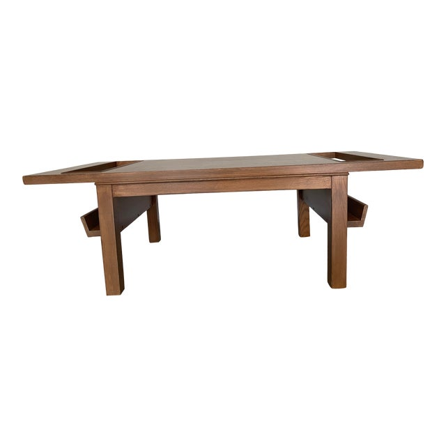 Lane Coffee Table with Magazine Holders For Sale