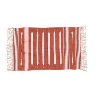 Musk Rug, 5x8, Red & White For Sale