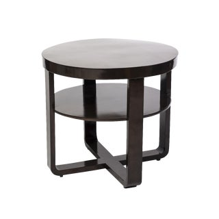 French Art Deco Gueridon Round Side Table For Sale