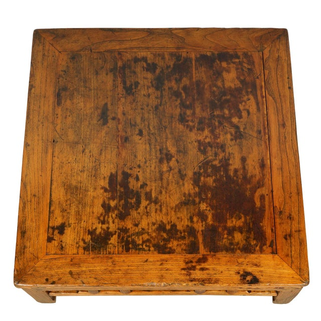 Antique Chinese Carved Kang Table/Coffee Table For Sale - Image 4 of 12