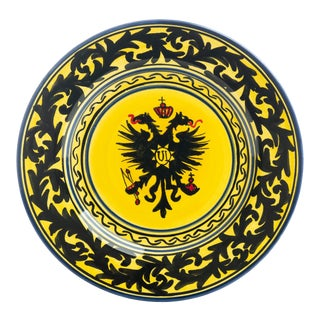 """Eagle Dessert Plate 7.5"""", Contrade Dinnerware From Siena For Sale"""