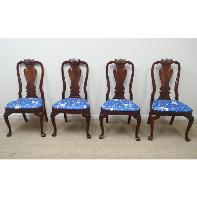 Set of 6 Dining chairs made by Councill. High quality set of Chippendale style dining room chairs. This set of 6 Mahogany...