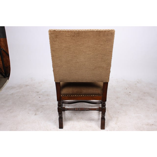 1920s French Queen Anne Style Arm Chair - Image 4 of 5