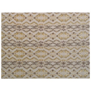 Stark Studio Rugs Contemporary New Oriental Tibetan 100% Linen Rug - 10′ × 14′1″ For Sale