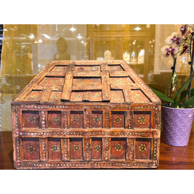 Small Teak Dowry Chest For Sale - Image 4 of 8