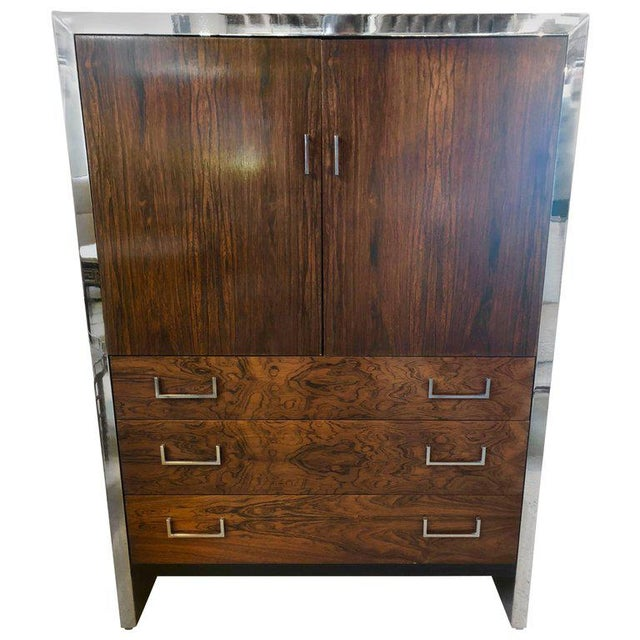 Milo Baughman for John Stuart Mid-Century Modern Ebony High Chest Commode - Image 11 of 11