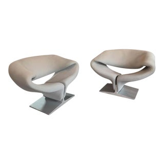 "Pierre Paulin for Artifort ""Ribbon"" Lounge Chairs For Sale"