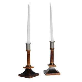 Pair of Swedish Candlesticks For Sale
