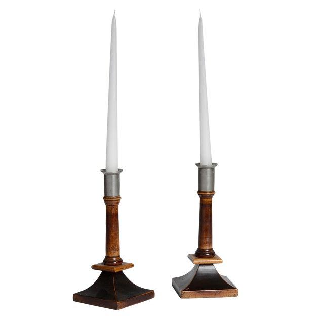 Pair of Swedish Candlesticks - Image 1 of 2