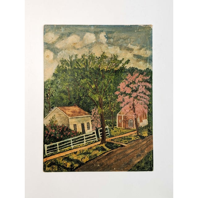 Lot of Mid-Century Folk Art, Oil Paintings on Canvas Board by Artist Blanche Waterstreet; Lot of 5 For Sale In New York - Image 6 of 13