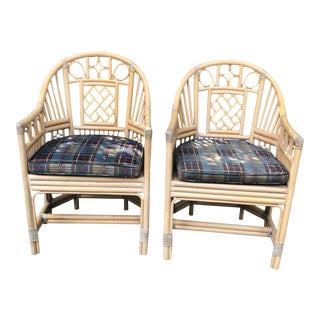 Brighton Pavilion Style Bamboo armChairs- a Pair For Sale