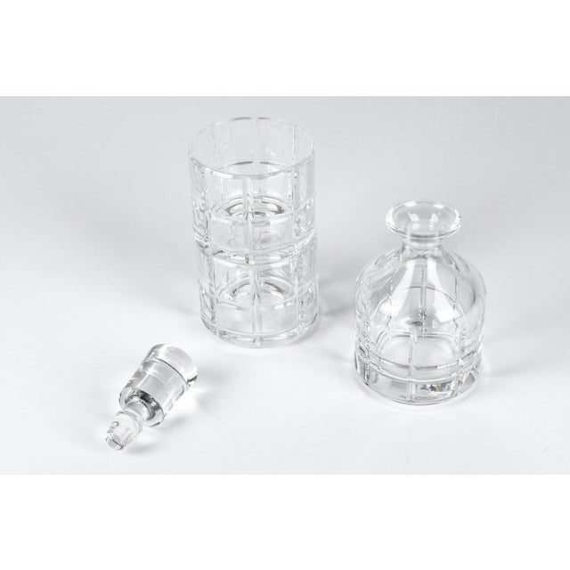 2010s Cut Crystal Three Pieces Drinks Decanter For Sale - Image 5 of 10