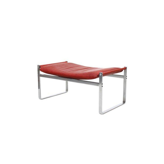 Metal Preben Fabricius and Jorgen Kastholm Lounge Chair and Ottoman For Sale - Image 7 of 11