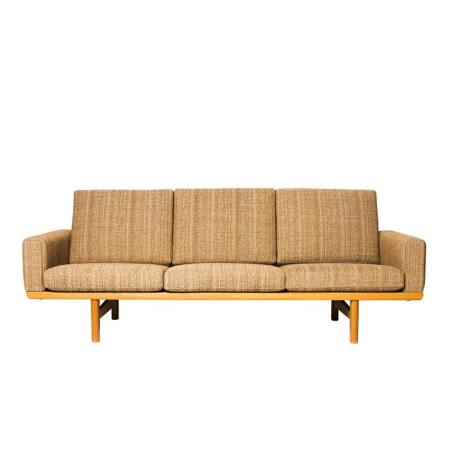 Hans Wegner GE-236 sofa designed in 1954 and produced by GETAMA. We have another one that we can reupholster for you. Send...