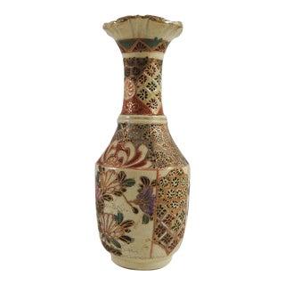Satsuma Raised Enamel Vase