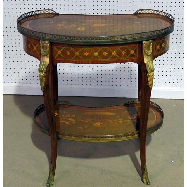 Brass Louis XV Style Accent Table Manner of Forest For Sale - Image 7 of 8