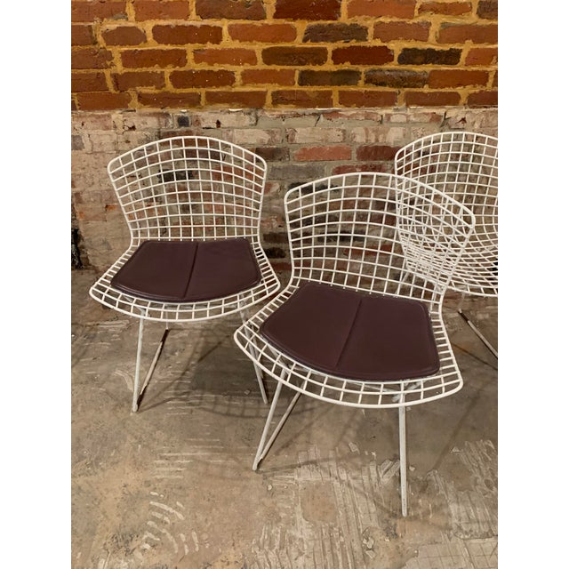 Vintage Mid Century Knoll Bertoia White Side Chairs - Set of 4 For Sale - Image 11 of 13
