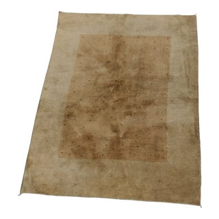 Persian Gabbeh Two Tone Rug - 4′12″ × 7′9″ For Sale