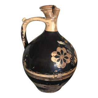 Vintage Early 1900's Black European Water Pitcher