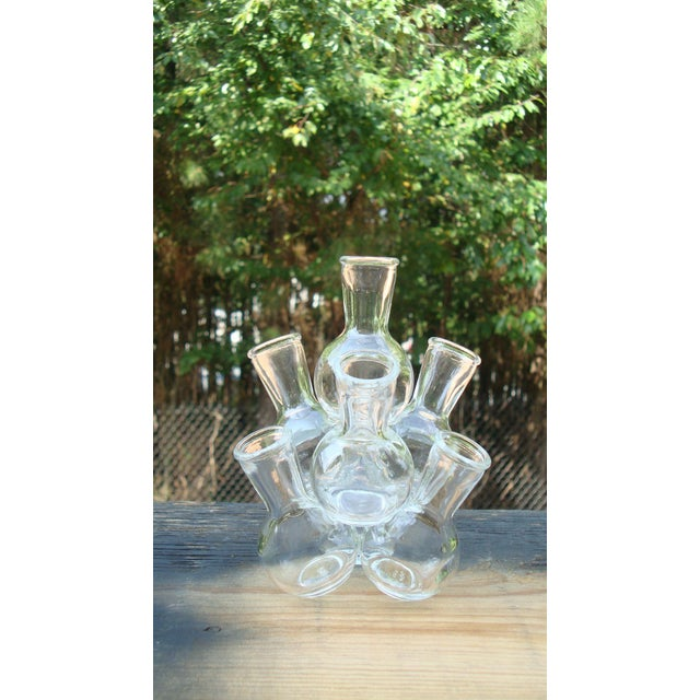 Mid-Century Modern Glass Bottle Sculpture - Image 5 of 8