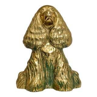 Spaniel Brass Doorstop by Virginia Metalcrafters