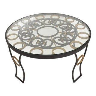 1950s Arturo Pani Mexican Modernist Talleres Chacon Forged Iron Coffee Table For Sale