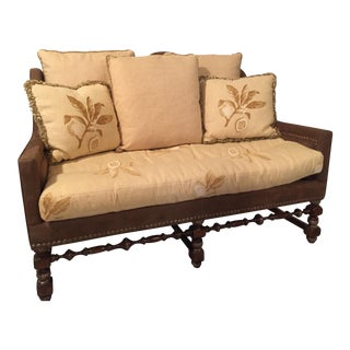 French Country Suede Settee