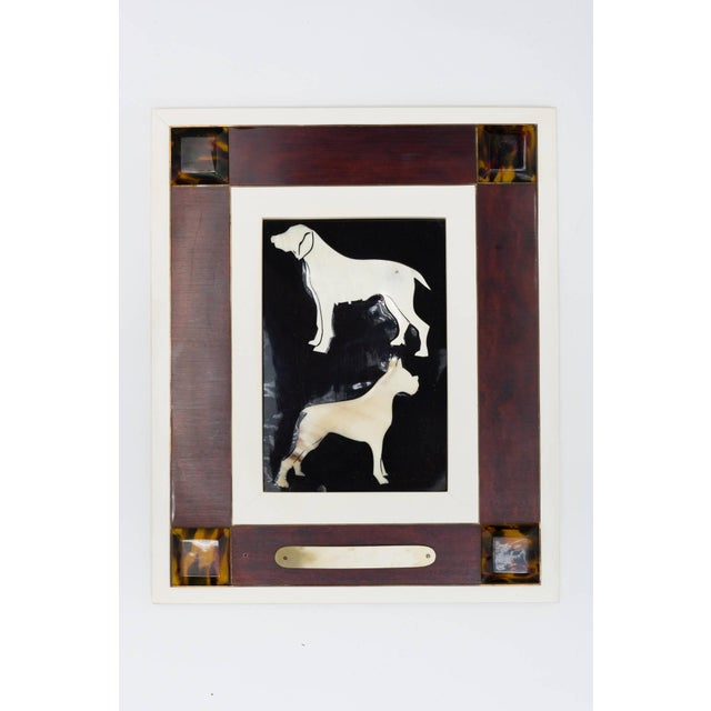 Italian Italian Horn and Resin Dog Picture For Sale - Image 3 of 8