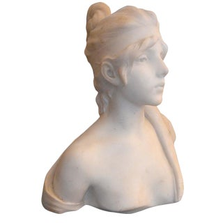 19th C. French Bust of Woman For Sale