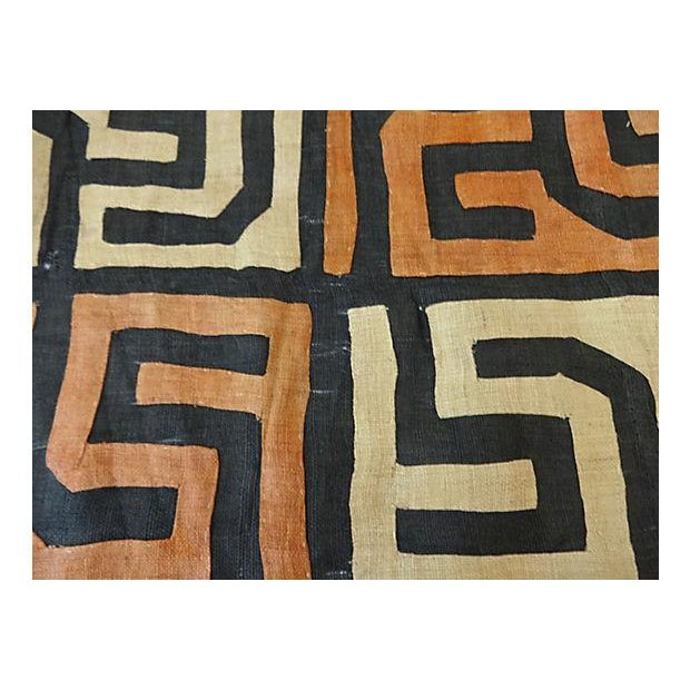 1970s African Kuba Textile Raffia Wall Hanging For Sale - Image 5 of 9