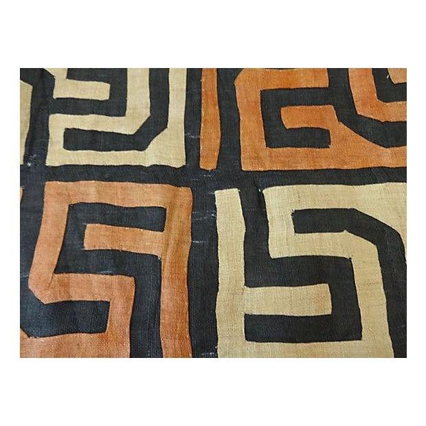 African Kuba Textile Raffia Wall Hanging - Image 5 of 9