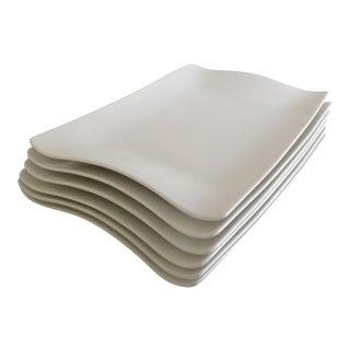 Villeroy & Boch Cera White Premium Porcelain Rectangular Plates - Set of 6