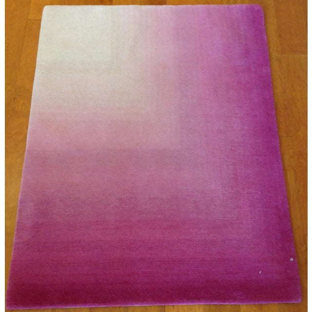 Pink & White Ombre Rug - 3′ × 4′ - Image 2 of 3